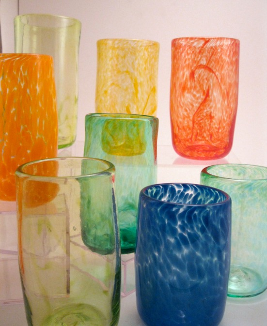 Mix and Match drinking glasses by Wunder Around